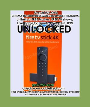 All new 4k fire TV stick for Sale in Hoboken, NY