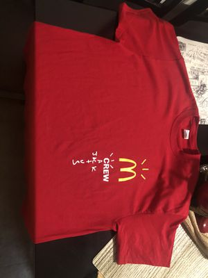 Travis Scott McDonald's T shirt XL for Sale in Covina, CA