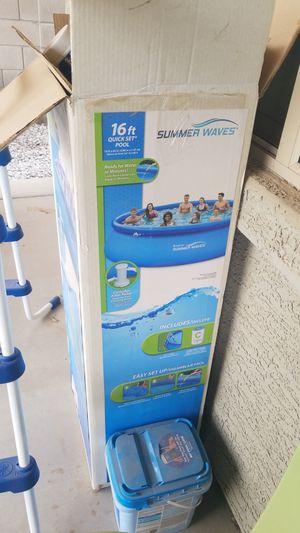Pool set 16ft for Sale in Phoenix, AZ