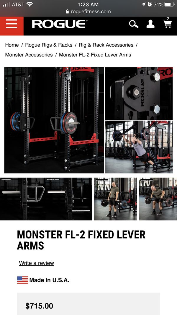 Rogue monster fixed lever arms