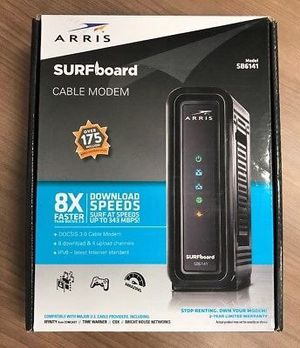ARRIS SURFboard SB6141 8x4 DOCSIS 3.0 Cable Modem & Router - Brand New for Sale in Herndon, VA