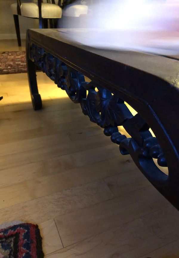 Coffee table- 3 feet long, 17 inches wide, 12 inches off the ground