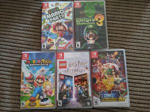 Nintendo Switch Games- perfect condition for Sale in Hesperia, CA