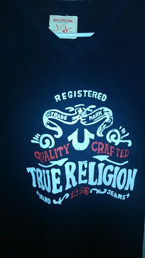 Used, True Relgion T -Shirt V-Neck for Sale for sale  Fayetteville, GA
