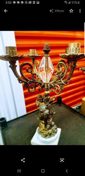 Large angel candelabra brass 4 arm.... for Sale in Pasadena, TX