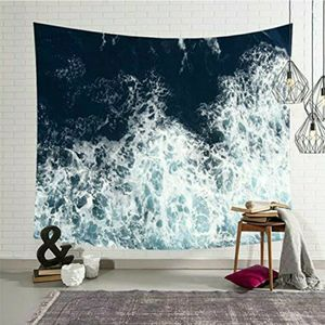 Blue Ocean Waves Tapestry Sea Sunset Wall Hanging Art Decor for Bathroom Any Room for Sale in Glendora, CA