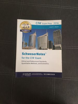 CFA Level II Schweser notes FOR FREE! for Sale in Annandale, VA