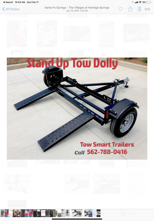 Tow dolly ready to go finance with zero down stand up tow dolly full price $1535