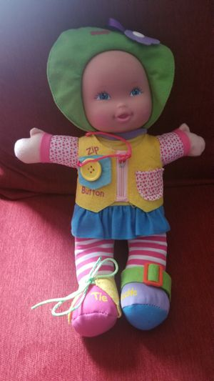 """Zipper, Button, Tie, Snap Buckle Baby Doll 14"""" Pre-Owned Good Condition for Sale in Baltimore, MD"""