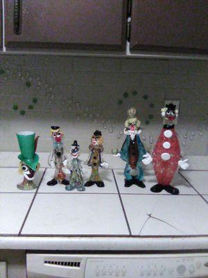 Murrano glass clowns for Sale in Sacramento, CA