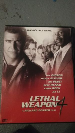 Lethal weapon 4 dvd for Sale in Missoula, MT