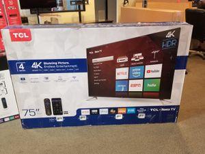 "TCL 75S423 75"" 4K SMART TV'S ROKU HDR IN BOX WARRANTY TAX INCL OTD PRICE PYMNT OPTIONS for Sale in Glendale, AZ"