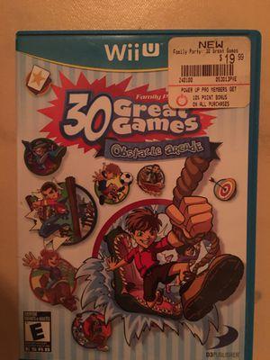 Nintendo Wii U family party 30 mini games for Sale in Visalia, CA