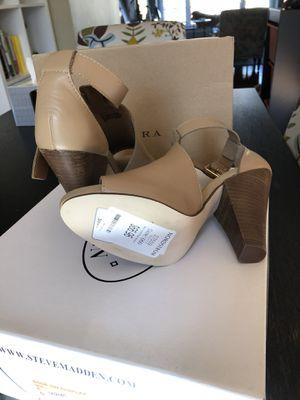 Steve Madden Sandal Leather Size 6, brand new for Sale in Fairfax, VA