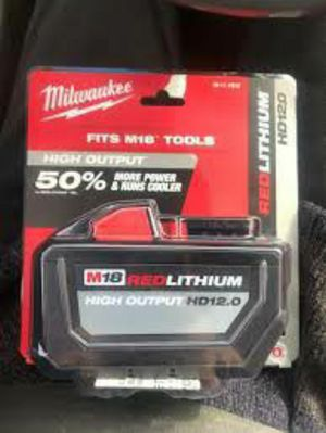 Milwaukee M18 18-Volt Lithium-Ion High Output 12.0Ah Battery Pack for Sale in Stickney, IL