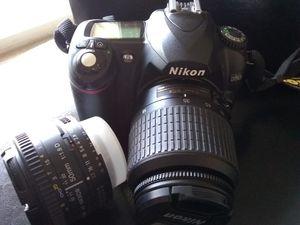 Nikon Camera, Lenses, Tripod, Grip, Flash Lot Nikor Tamron Slick for Sale in Denver, CO