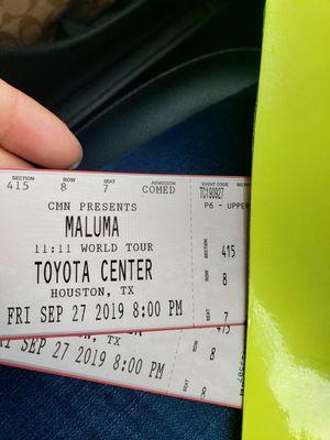 Maluma tickets for Sale in Baytown, TX