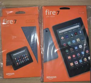 Amazon Fire 7 Tablet 9th gen 32gb Twilight Blue Case Bundle for Sale in Philadelphia, PA