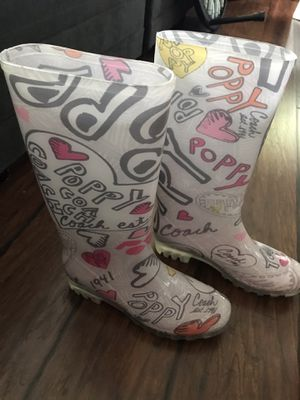 Coach Poppy rain boots. NEW. Size 6.5 for Sale in Des Moines, WA