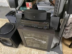 Surround sound 5.1 with Yamaha Receiver for Sale in Dundalk, MD