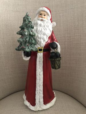 Beautiful 13 inch Santa with lantern. Gorgeous for a table or centerpiece. for Sale in Pembroke Pines, FL