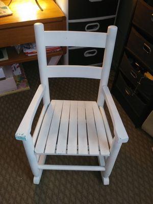 Wood white KIDS rocking chair for Sale in Salt Lake City, UT