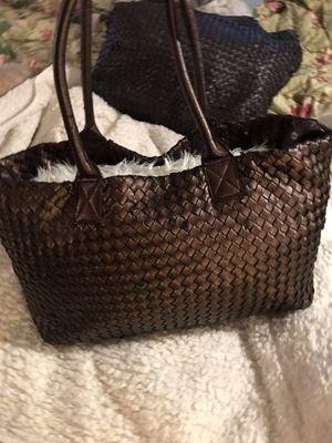 Brown Bottega Vennetta bag med/ large size tote, preowned 75.00. for Sale in Denver, CO