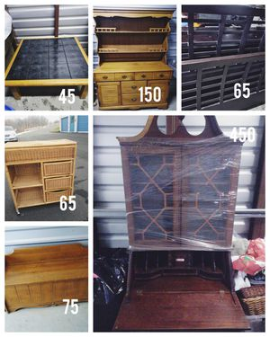 Moving! All must go! Hutch, Bench, Queen size bed frame, coffee table, secretary desk*Branford for Sale in Branford, CT
