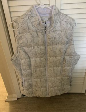 White House Black Market Puffer Silver Vest for Sale in Fremont, CA