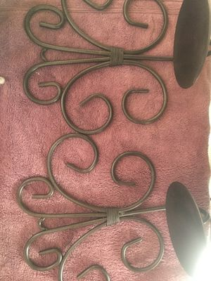 Set of solid iron metal mountable candle holder decor for Sale in Moreno Valley, CA