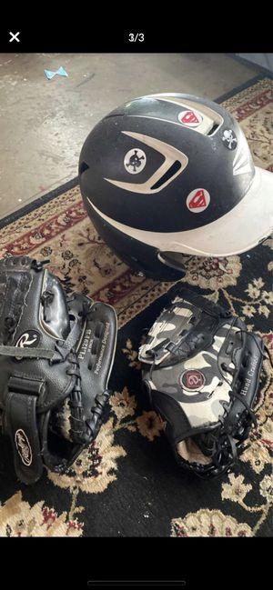 Baseball ⚾️ gear. 2 gloves. Tball glove & 11 in Rawlings glove for Sale in Yorba Linda, CA