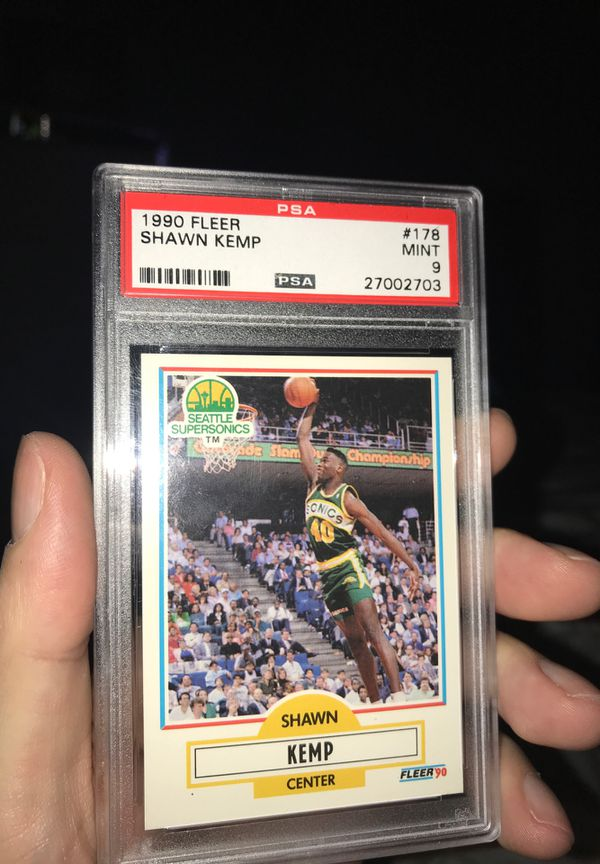 1990 Fleer Shawn kemp rookie psa 9
