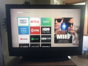 Olevia 42 inch TV with Roku with Netflix, Hulu, and Showtime for Sale in Cadillac, MI