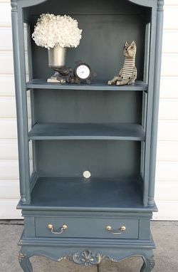 Vintage Green Wood China Cabinet for Sale in Los Angeles,  CA
