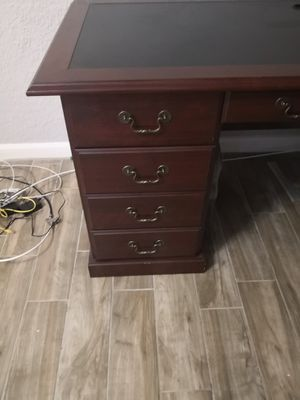 "Computer desk Sauder Heritage Hill Double-Pedestal Desk, 30-1/8""H x 64-3/4""W, x 30""D, Classic Cherry for Sale in Clearwater, FL"