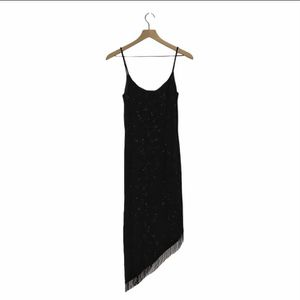 Night Way black party dress size 8 with fringe for Sale in Oklahoma City, OK