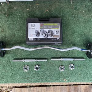 Iron 40lb Adjustable Dumbbell Set And Curl Bar for Sale in Montebello, CA
