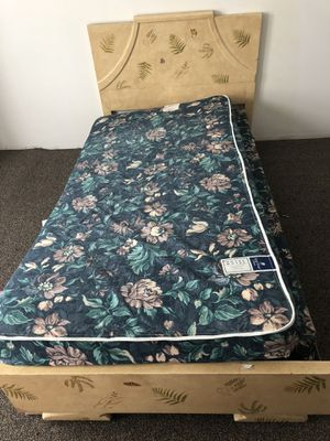 Twin bed frame with or without mattress and box spring for Sale in Harrisburg, PA
