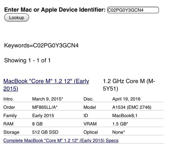 """Macbook 12"""" Comes with charger (Early 2015)"""
