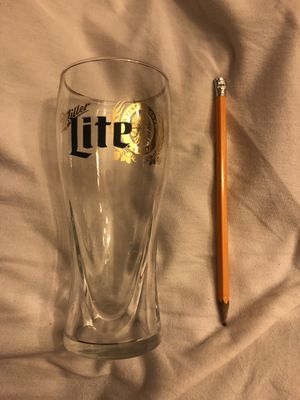 A pair of Miller time collector golden rim touched beer glass for Sale in Phillips Ranch, CA