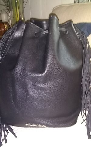 Victoria's secret black leather backpack handbag for Sale in Canton, MI