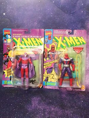 Vintage Marvel X Men The Uncanny Magneto and Senyaka action figures toys disney for Sale in Dallas, TX