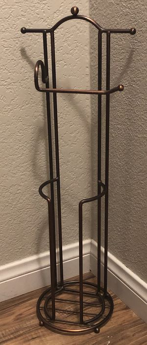 Copper Metal Toilet Paper Holder Free Standing for Sale in Henderson, NV