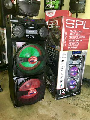 Speaker Bluetooth,radio,1🎤karaoke,ecualizador,efecto de sonidos,USB,AUX,rueda,luz LD for Sale in Hialeah, FL