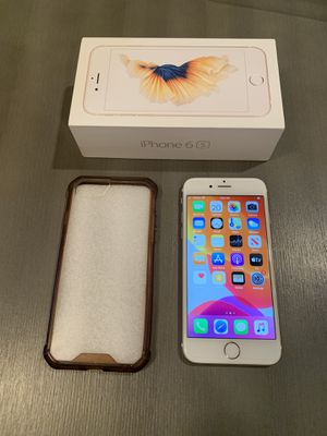 Apple iPhone 6S 128GB UNLOCKED CARRIER in Gold excellent condition With box and accessories for Sale in Pasadena, CA