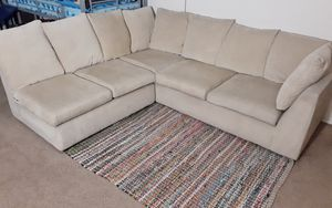 Free Beige sectional couch very comfortable for Sale in Fountain Valley, CA