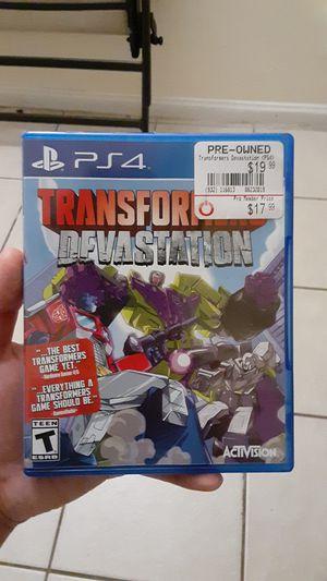 Transformers devastation ps4 for Sale in El Monte, CA