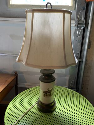 Antique Lamp with middle ceramic base. for Sale in Lilburn, GA