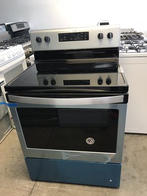 "San Carlos Appliances. Sale& services. Open box , great deal electric stove,30"",STAINLESS, glass ceramic smooth top, self clean oven , whirlpool brand for Sale in San Jose, CA"