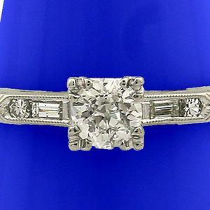 U3686 PLATINUM DIAMOND ENGAGEMENT RING .49CT LADIES WEDDING BAND for Sale in Los Angeles, CA